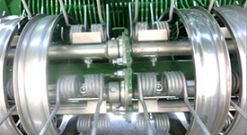 Řada prstů a centrální zpevňující rotorové kolo