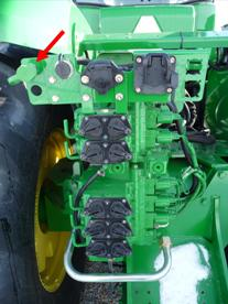 Brake coupler on a 9030 Series Tractor
