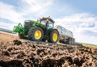 Czujnik HarvestLab 3000 zamontowany na cysternie do gnojowicy