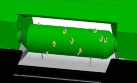 Chowany palec podajnika ślimakowo-palcowego bębna podającego