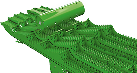 Powierzchnia wytrząsacza wynosząca 6,3 m² (67.8 sq ft) w modelu W440 zapewnia skuteczną separację