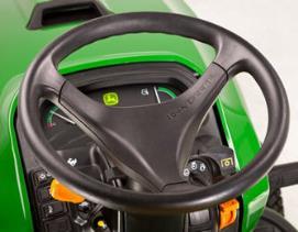 Kierownica z dźwignią regulacyjną znajduje się po lewej stronie