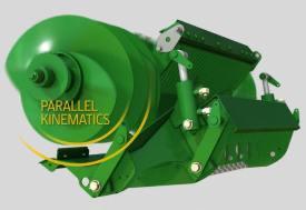 Konstrukcja o kinematyce równoległej eliminuje przewężenia w kanale przepływu materiału