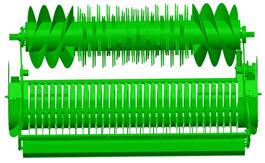Pojedyncza oś dla rotora i zbieżnych przenośników ślimakowych w Maxicut™ HC 25 i 23