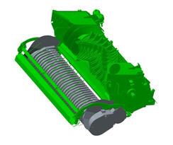 Podbieracz o szerokości 2,3 m (7,5 stopy) dostosowany do najszerszych pokosów we wszystkich modelach pras wielkogabarytowych