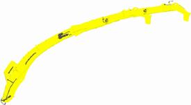 Rura wyrzutowa o wysokim łuku z dostępnymi przedłużeniami