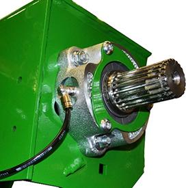 Smarowane, dwurzędowe łożyska rolek o średnicy 50 mm zamontowane w prasie V451G