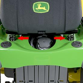 Sprężyny fotela zapewniają płynną jazdę