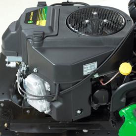 Dwucylindrowy silnik o mocy 13,8 kW przy 3350 obr./min.
