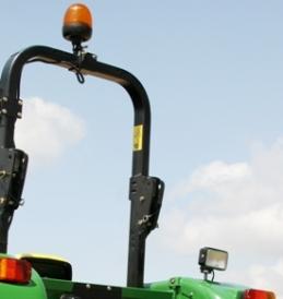 Światło ostrzegawcze i światło robocze jako wyposażenie standardowe