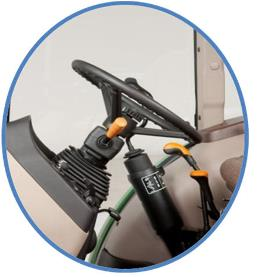Dźwignia PowrReverser wkolumnie kierownicy zregulacją kąta nachylenia.