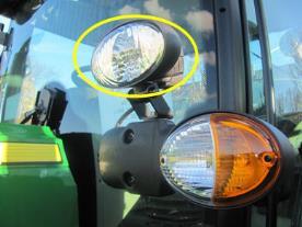 873M - Dwa światła robocze na ramie kabiny - HB3