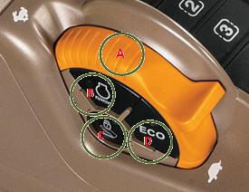 Dźwignia ręcznej regulacji prędkości obrotowej silnika