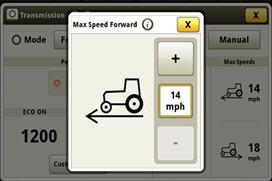 Dostosowanie prędkości i kierunku w CommandCenter