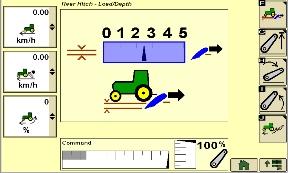 Zrzut ekranu przedstawiający obciążenie/zagłębienie podnośnika