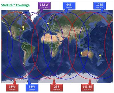 Cobertura de rede StarFire