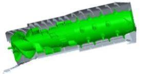 Secção transversal do rotor de fluxo variável