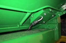 Sensor na caixa de crivos
