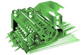 Mecanismo de debulha do cilindro de pré-debulha da W440
