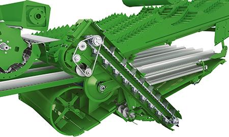 Sistema de redebulha ativo com cilindro de debulha separado