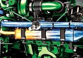 Motor de 9,0 l da série S com recirculação de gases de escape refrigerados (EGR)