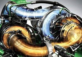 Turbocompressores do motor de 9,0 l da série S