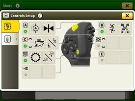 Processo de configuração dos botões individuais selecionáveis