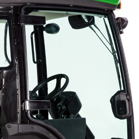 Conforto e visibilidade superiores para o operador