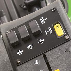 Interruptores de elevação da plataforma de corte