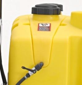 Depósito de água para a higiene do operador