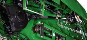 As caixas de engrenagens e o eixo asseguram que a transmissão esteja permanentemente sincronizada