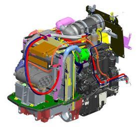 Novo motor potente e compacto que cumpre a norma de emissões Fase IIIB