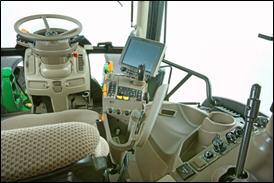 Cabina e controlos do trator 6R