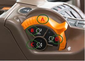 Acelerador manual quando equipado com CommandPRO