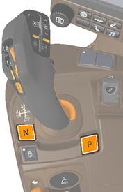 Joystick CommandPRO com posições de ponto morto e estacionamento