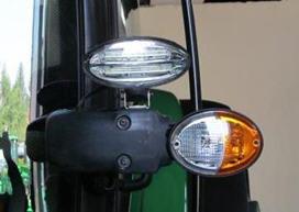 873N - dois faróis  de trabalho na linha central da cabina - LED