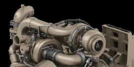 Turbocompressores em série com motor PowerTech PSS