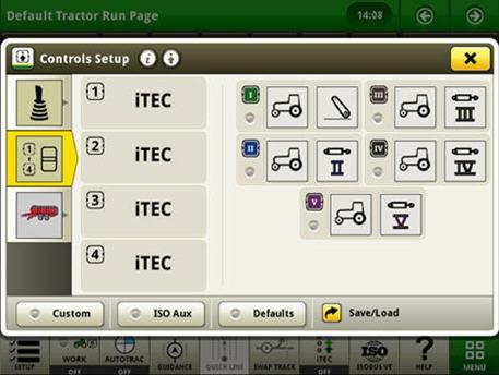 Exemplo de configuração de controlos na definição CommandARM – configuração de controlos no CommandCenter