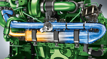 Recirculação dos gases de escape nos motores PowerTech™ PSS de 9,0 litros