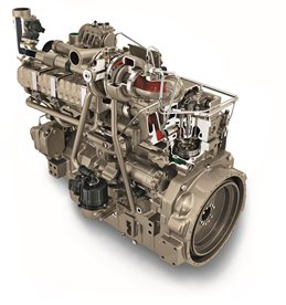 Motor diesel Yanmar de 3 cilindros, série TNV