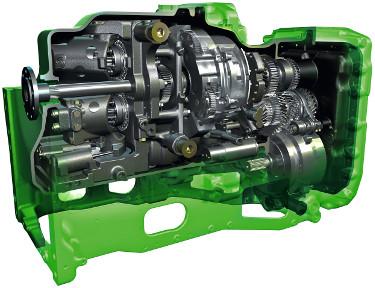A transmissão AutoPowr permite-lhe engrenar mudanças suavemente desde o arranque até à velocidade máxima