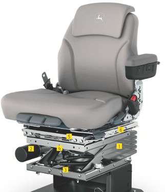 O assento ActiveSeat utiliza tecnologia eletrohidráulica em combinação com suspensão pneumática, melhorando a qualidade da condução