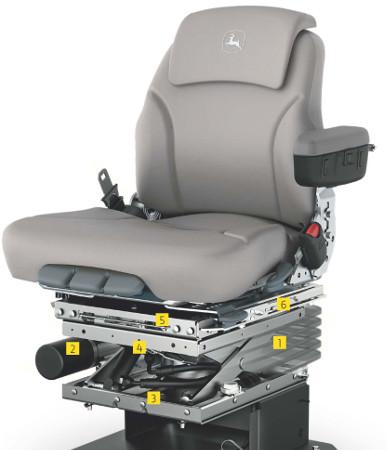 O assento ActiveSeat isola até 90 por cento dos movimentos verticais