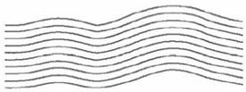 Кривизна линии изменяется при движении по полю