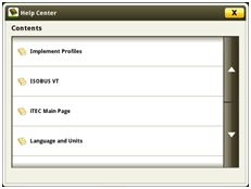 The main help center page