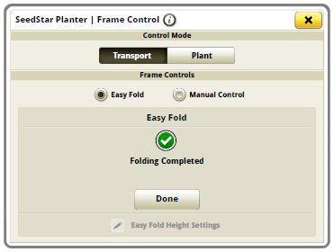 Экран завершения работы Easy Fold