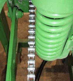 Соприкосновение с цепями при использовании усиленной системы прижима