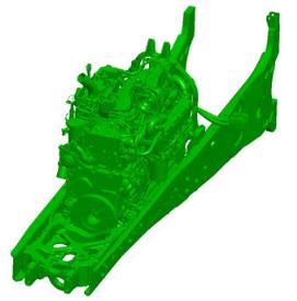 Двигатель в полнорамной конструкции