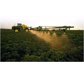 För uppkomna grödor som kräver hög noggrannhet