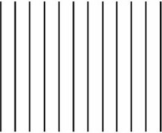 Maskinen körs i exakt parallella linjer